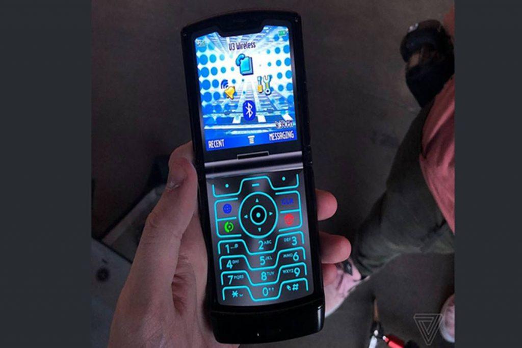 Motorola Razr 5 keypad
